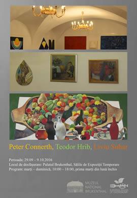 Expoziția: Peter Connerth, Teodor Hrib, Liviu Suhar