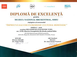 """Muzeul Național Brukenthal a câștigat concursul """"Together We Save Romanian Cultural Heritage"""" IFA-CE"""
