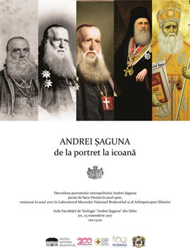 The unveiling of Metropolitan Andrei Șaguna's portrait, recently restored by the Brukenthal National Museum Laboratories