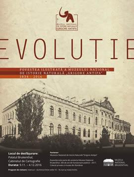 """Expoziţia: EVOLUȚIE: povestea ilustrată a Muzeului Național de Istorie Naturală """"Grigore Antipa"""""""